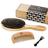 Brosse à Cheveux en Polls de Sanglier Pour un Traitement Naturel des...