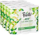 Marque Amazon - Presto! Papier toilette 3 épaisseurs - ECO - Lot de...