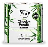 Cheeky Panda Rouleau de papier toilette 100% tissu de bambou – doux,...
